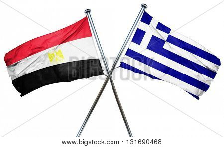 Egypt flag  combined with greek flag