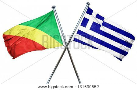 Congo flag  combined with greek flag