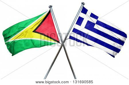 Guyana flag  combined with greek flag