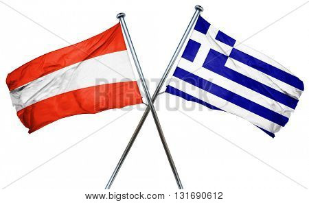 Austria flag  combined with greek flag