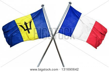 Barbados flag  combined with france flag