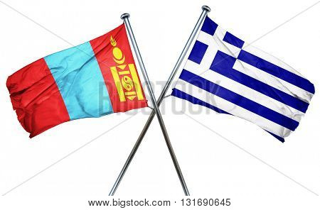 Mongolia flag  combined with greek flag