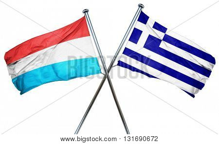 Luxembourg flag  combined with greek flag