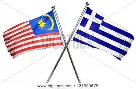 Malaysia flag  combined with greek flag