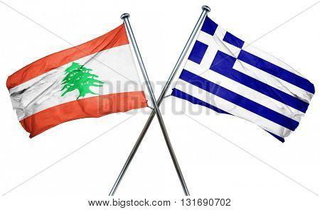 Lebanon flag  combined with greek flag