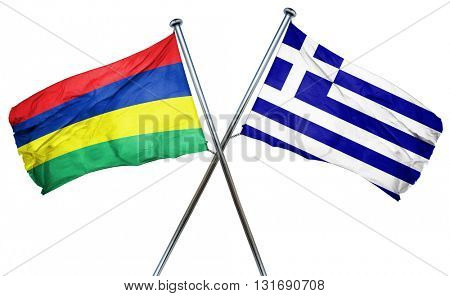 Mauritius flag  combined with greek flag