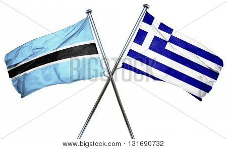 Botswana flag  combined with greek flag