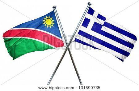 Namibia flag  combined with greek flag