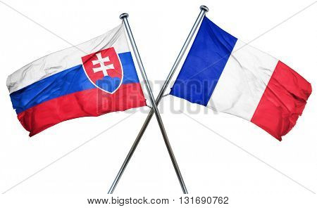 Slovakia flag  combined with france flag