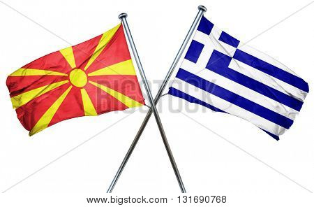 Macedonia flag  combined with greek flag