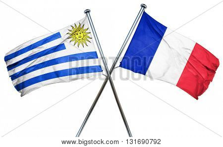 Uruguay flag  combined with france flag