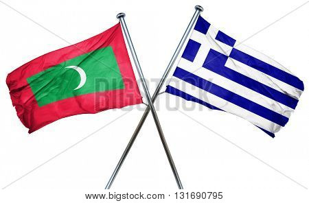 Maldives flag  combined with greek flag