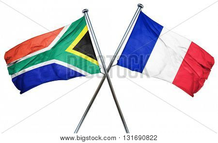 South africa flag  combined with france flag