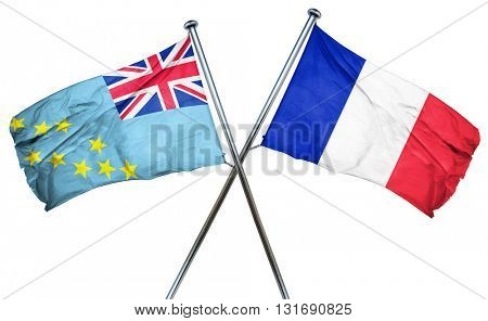 Tuvalu flag  combined with france flag