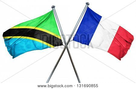 Tanzanian flag  combined with france flag