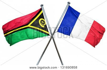 Vanatu flag  combined with france flag