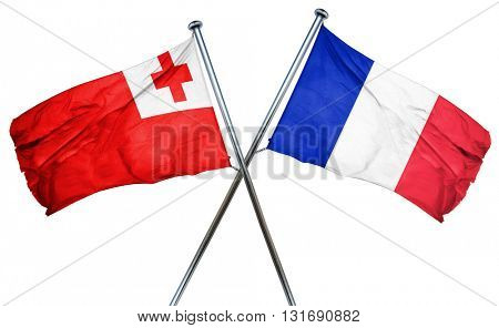Tonga flag  combined with france flag