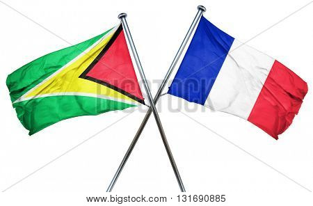 Guyana flag  combined with france flag