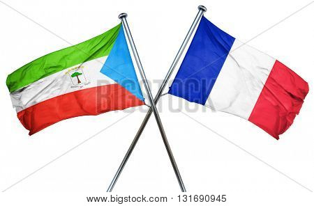 Equatorial guinea flag  combined with france flag