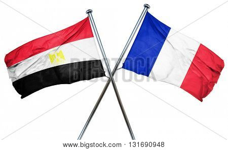 Egypt flag  combined with france flag