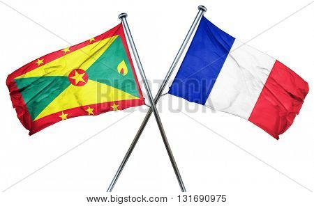 Grenada flag  combined with france flag