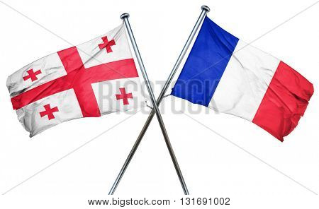 Georgia flag  combined with france flag