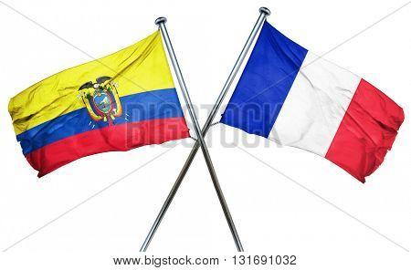 Ecuador flag  combined with france flag