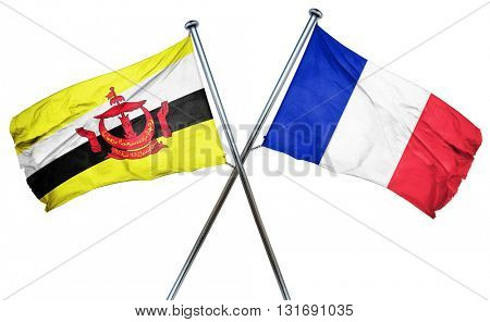 Brunei flag  combined with france flag