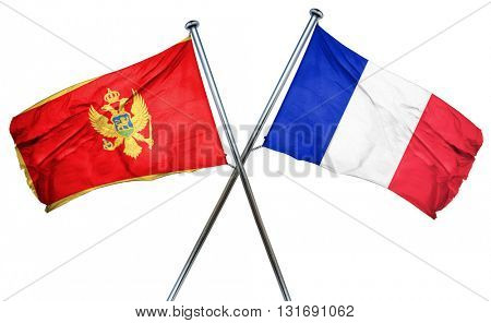 Montenegro flag  combined with france flag