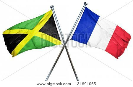 Jamaica flag  combined with france flag