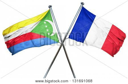 Comoros flag  combined with france flag
