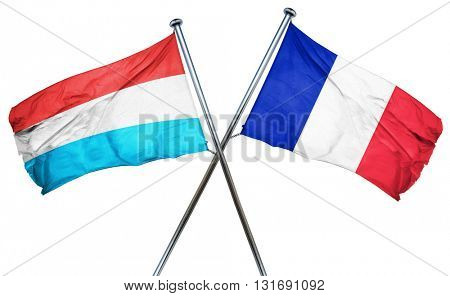 Luxembourg flag  combined with france flag