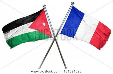 Jordan flag  combined with france flag
