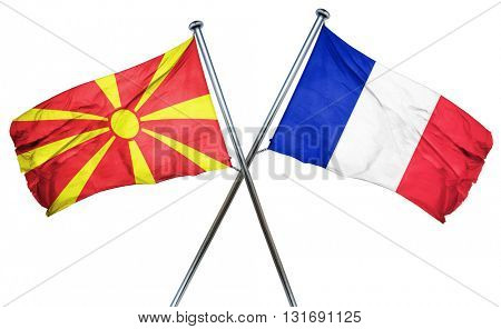 Macedonia flag  combined with france flag