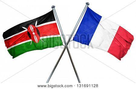 Kenya flag  combined with france flag