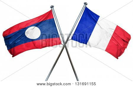 Laos flag  combined with france flag