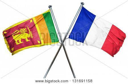 Sri lanka flag  combined with france flag