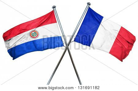 Paraguay flag  combined with france flag