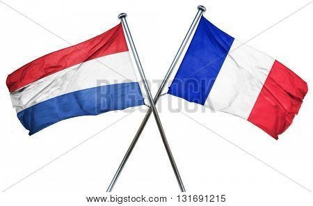 Netherlands flag  combined with france flag