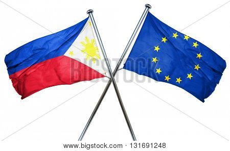 Philippines flag  combined with european union flag