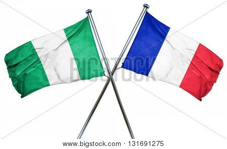 Nigeria flag  combined with france flag