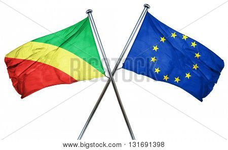 Congo flag  combined with european union flag
