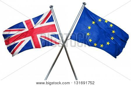 Great britain flag  combined with european union flag