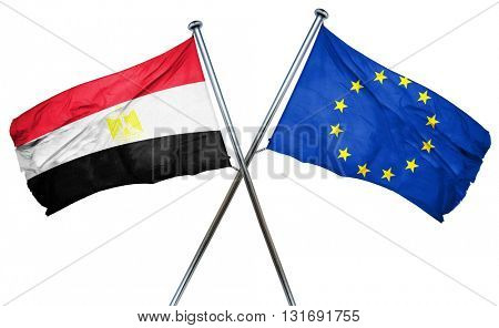Egypt flag  combined with european union flag