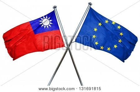 Republic of china flag  combined with european union flag