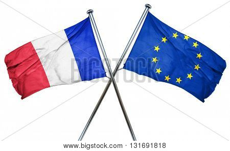 France flag  combined with european union flag