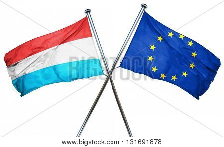 Luxembourg flag  combined with european union flag