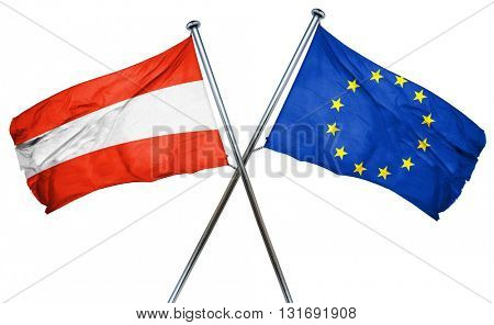 Austria flag  combined with european union flag