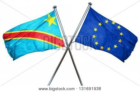 Democratic republic of the congo flag  combined with european un