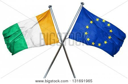 Ivory coast flag  combined with european union flag
